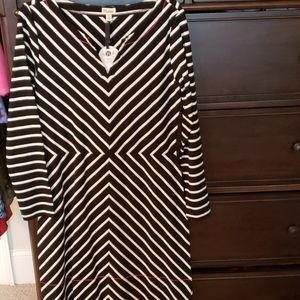 Hatley black & white dress